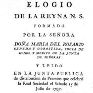 """Elogio de la Reyna"" Cepeda (1797)"