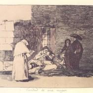 """""""La caridad de una mujer"""" Goya (1814)"""