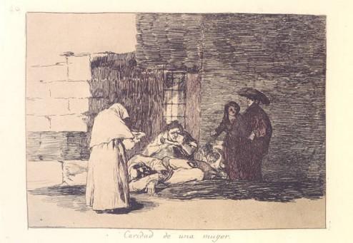 """La caridad de una muger"" by Francisco Goya (1810-1814)"